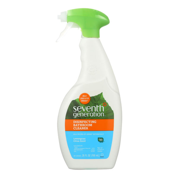 Seventh Generation Disinfecting Bathroom Cleaner - Lemongrass Thyme - Case Of 8 - 26 Fl Oz.