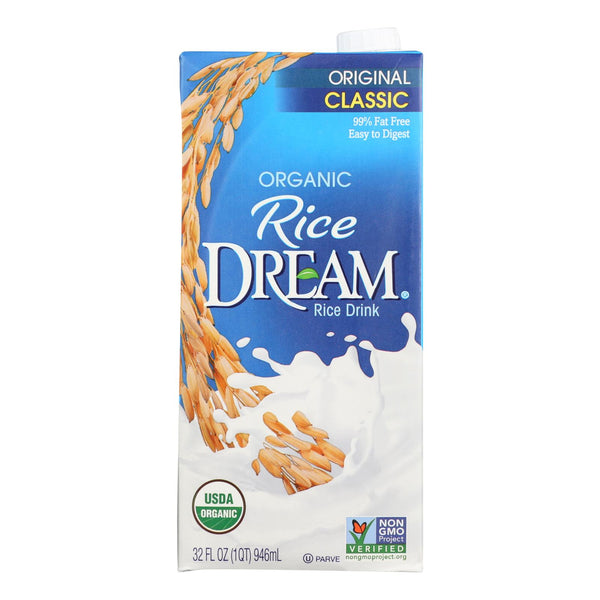 Rice Dream Organic Rice Dream - Original - Case Of 12 - 32 Fl Oz.
