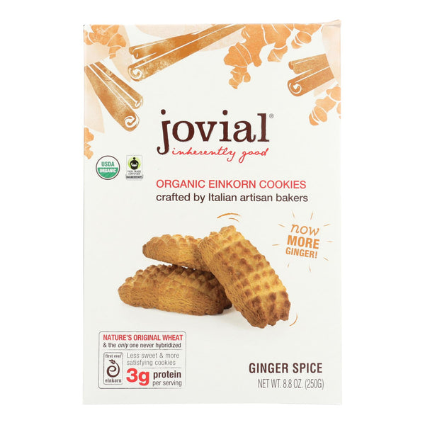 Jovial - Einkorn Cookies - Ginger Spice - Case Of 12 - 8.8 Oz.