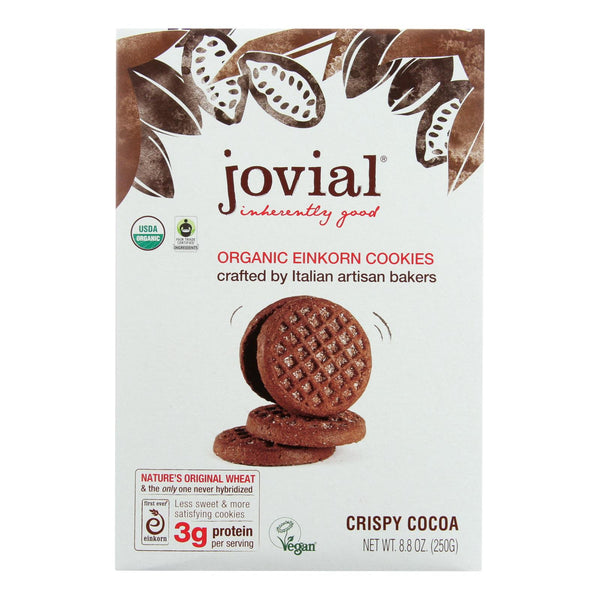 Jovial - Cookie - Organic - Einkorn - Crispy Cocoa - 8.8 Oz - Case Of 12
