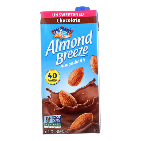 Almond Breeze - Almond Milk - Unsweetened Chocolate - Case Of 12 - 32 Fl Oz.