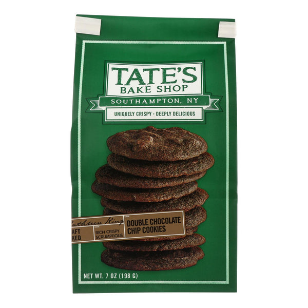 Tate's Bake Shop Double Chocolate Chip Cookies - Case Of 12 - 7 Oz.