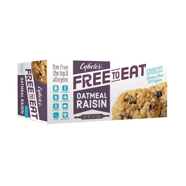 Cybel's Free To Eat Oatmeal Raisin Cookies - Case Of 6 - 6 Oz.