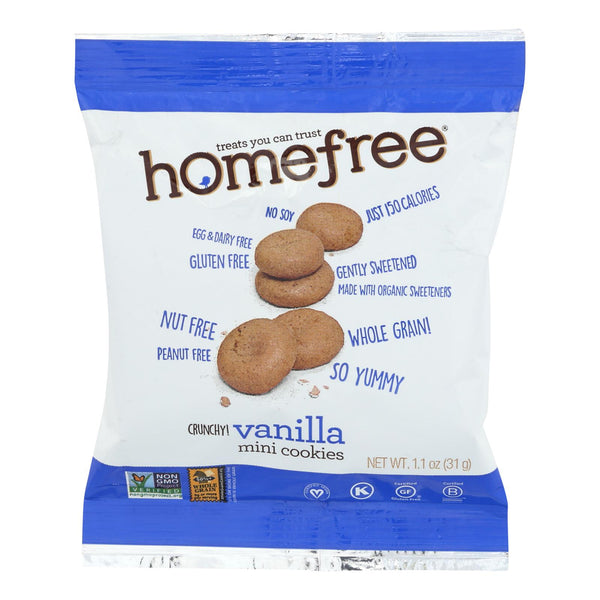 Homefree - Gluten Free Mini Cookies - Vanilla - Case Of 10 - 1.1 Oz.
