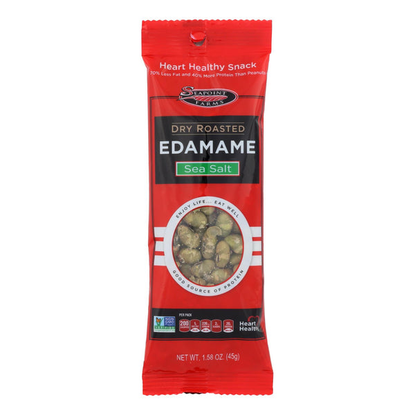 Seapoint Farms Edamame - Dry Roasted - Lightly Salted - 1.58 Oz - Case Of 12