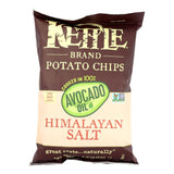 Kettle Brand Potato Chips - Himalayan Salt - Case Of 15 - 4.2 Oz.