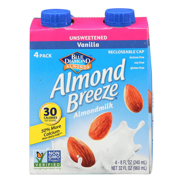 Almond Breeze - Almond Milk - Unsweetened Vanilla - Case Of 6 - 4-8 Oz.