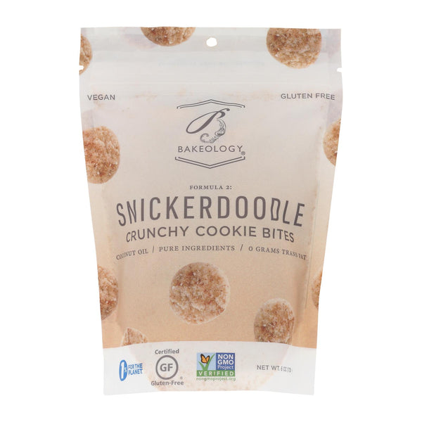 Bakeology Cookie Bites - Snickerdoodle - Case Of 12 - 6 Oz.