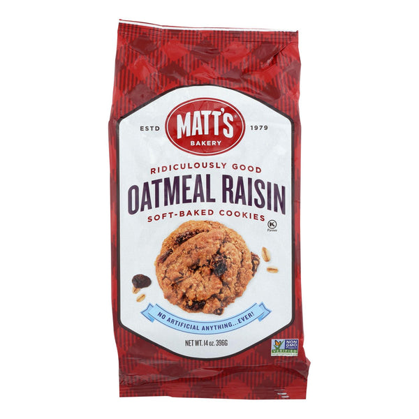 Matt's Bakery Oatmeal Raisin Soft-baked Cookies  - Case Of 6 - 14 Oz