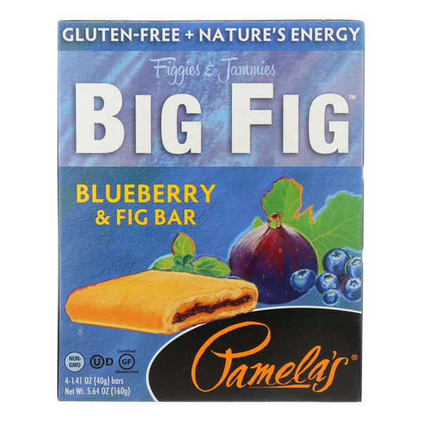Pamela's Products - Gluten-free Big Fig Bar - Blueberry And Fig - Case Of 8 - 5.64 Oz.