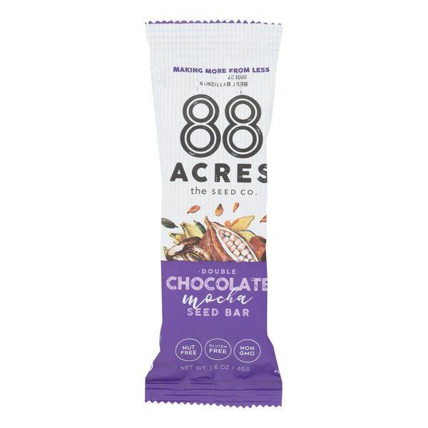 88 Acres - Seed Bars - Double Chocolate Mocha - Case Of 9 - 1.6 Oz.