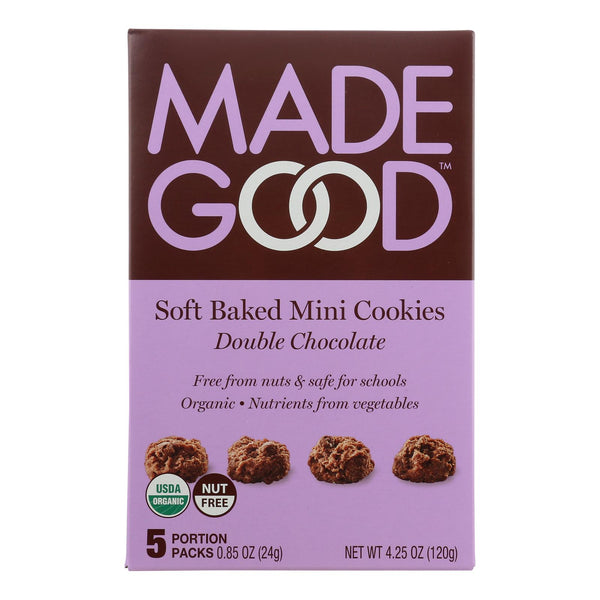 Made Good Soft Baked Mini Cookies - Double Chocolate - Case Of 6 - 4.25 Oz.