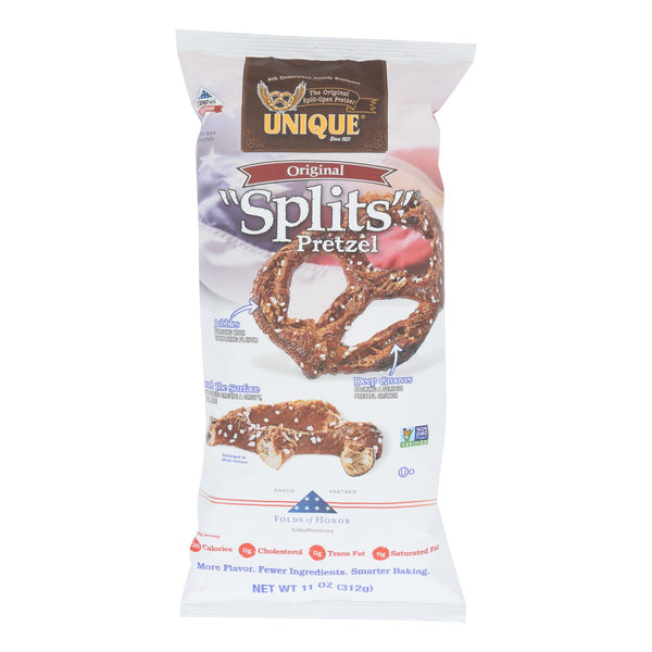 Unique Pretzels - Pretzels Original Splits - Case Of 12 - 11 Oz.