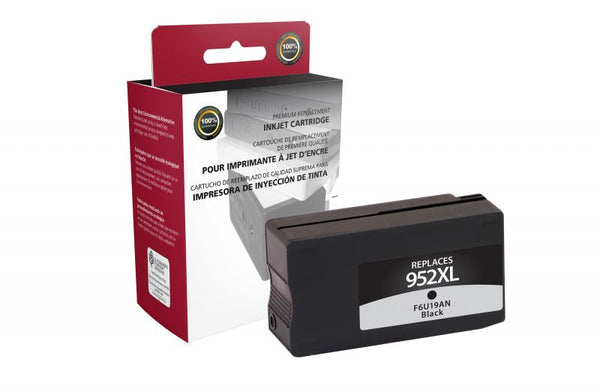 CIG Remanufactured High Yield Black Ink Cartridge for HP F6U19AN (HP 952XL)