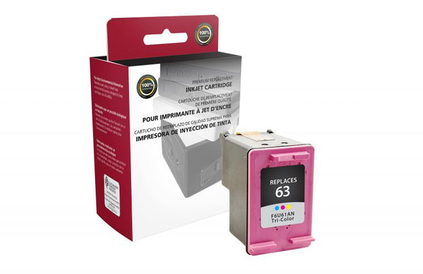 CIG Remanufactured Tri-Color Ink Cartridge for HP F6U61AN (HP 63)