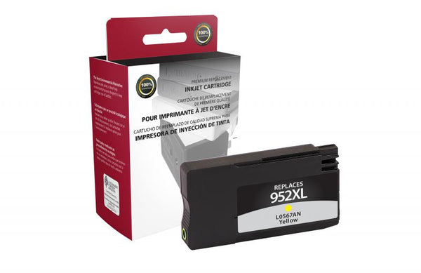 CIG Remanufactured High Yield Yellow Ink Cartridge for HP L0S67AN (HP 952XL)