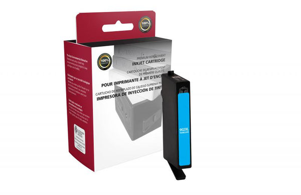 CIG Remanufactured High Yield Cyan Ink Cartridge for HP T6M02AN (HP 902XL)