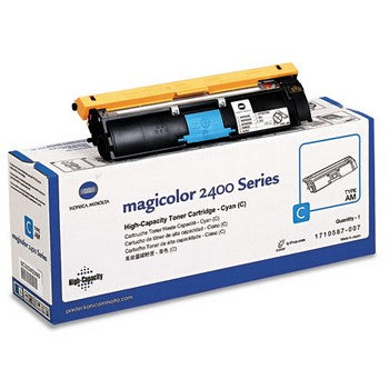 Konica-Minolta 1710587007 Cyan, High Yield Toner Cartridge