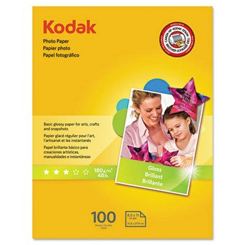 Kodak Photo Paper, Glossy 8.5 x 11inch/100 Sheets