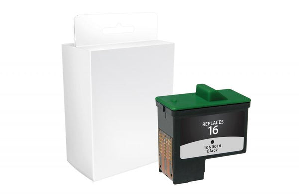 CIG Remanufactured Black Ink Cartridge for Dell Series 1, Lexmark #16/#17, Sharp UXC70B