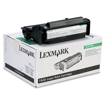 Lexmark 12A7415 Black, High Yield Toner Cartridge