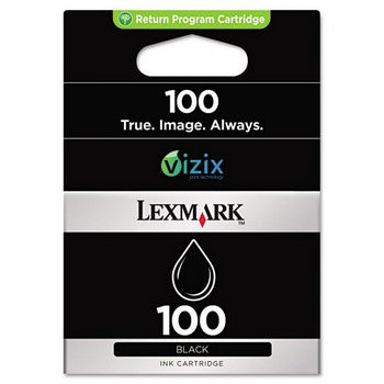 Lexmark 100 Black, Standard Yield Ink Cartridge, Lexmark 14N0820