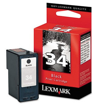 Lexmark 34 Black, High Yield Ink Cartridge, Lexmark 18C0034