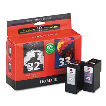 Lexmark 32/33 Black/Color, Twin Pack Ink Cartridge, Lexmark 18C0532