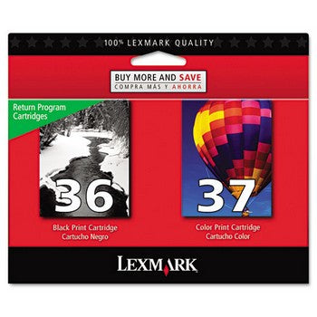 Lexmark 36 37 Black And Color Combo Pack Ink Cartridge 18C2229