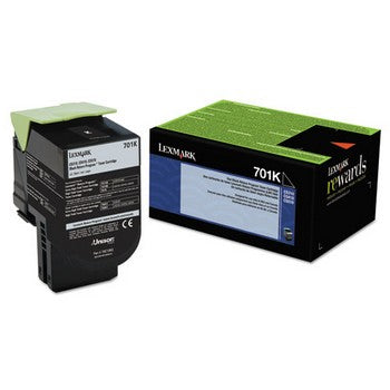 Lexmark 701K Black Toner Cartridge, Lexmark 70C10K0