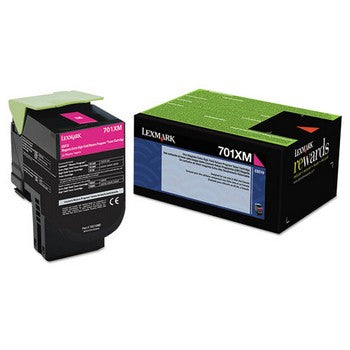 Lexmark 701XM Magenta, Extra High Yield Toner Cartridge, Lexmark 70C1XM0