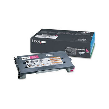 Lexmark C500H2MG Magenta, High Yield Toner Cartridge
