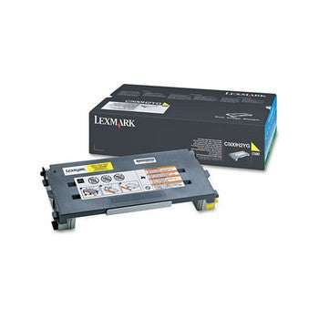 Lexmark C500H2YG Yellow, High Yield Toner Cartridge