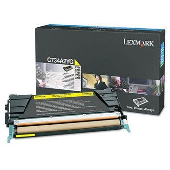 Lexmark C734A2YG Yellow Toner Cartridge