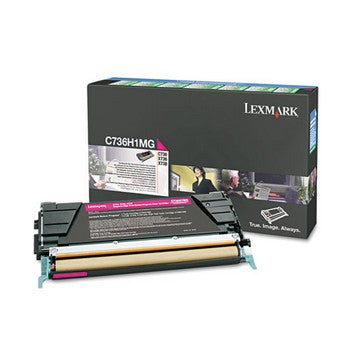 Lexmark C736H1MG Magenta, High Yield Toner Cartridge