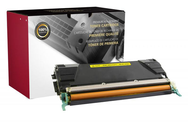 CIG Remanufactured Lexmark C736/X736/X738 High Yield Yellow Toner Cartridge