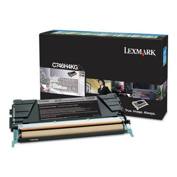 Lexmark C74X Black, High Yield Toner Cartridge, Lexmark C746H4KG