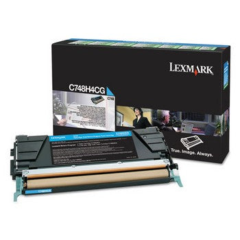 Lexmark C748 Cyan, High Yield Toner Cartridge, Lexmark C748H4CG