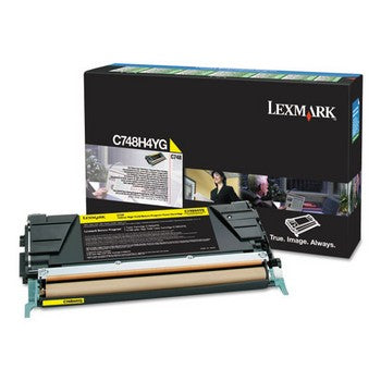 Lexmark C748 Yellow, High Yield Toner Cartridge, Lexmark C748H4YG