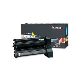 Lexmark C7700YH Yellow, High Yield Toner Cartridge
