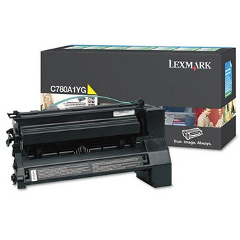 Lexmark C780A1YG Yellow Toner Cartridge