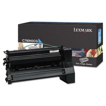 Lexmark C780H2CG Cyan, High Yield Toner Cartridge