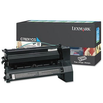 Lexmark C782X1CG Cyan, Extra High Capacity Toner Cartridge
