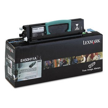 Lexmark E450H11A Black, High Yield Toner Cartridge