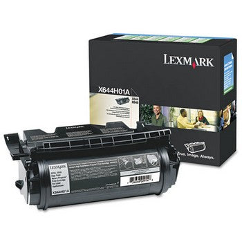 Lexmark X644H01A Black, High Yield Toner Cartridge