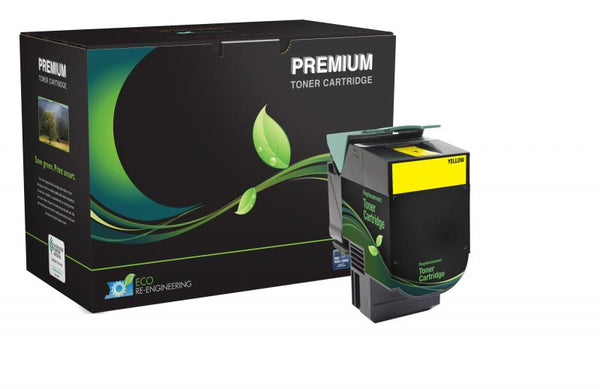 MSE Remanufactured High Yield Yellow Toner Cartridge for Lexmark C540/C544/X543/X544