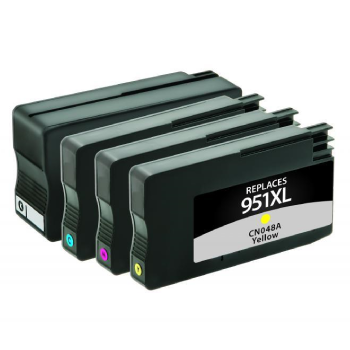 CIG Remanufactured High Yield Black, Cyan, Magenta, Yellow Ink Cartridges for HP 950XL/HP 951XL 4-Pack