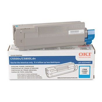 Okidata 43324403 Cyan, High Capacity Toner Cartridge