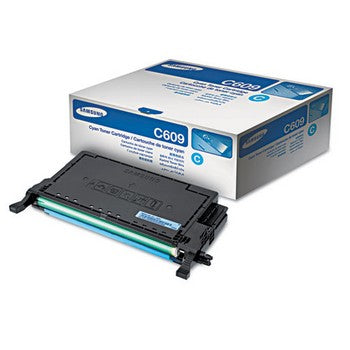 Samsung CLT-C609S Cyan, High Yield Toner Cartridge, Samsung CLTC609S