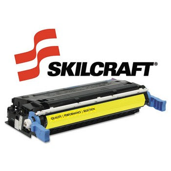 Compatible HP 641A Yellow, Standard Yield Toner Cartridge, SKILCRAFT SKL-C9722A